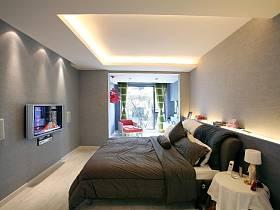 现代简约卧室老人房设计图