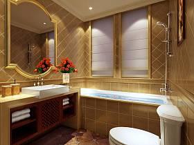 歐式田園浴室淋浴房設計圖