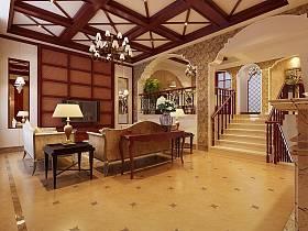 美式客廳吊頂圖片