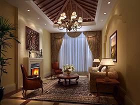 欧式美式客厅多功能室装修案例
