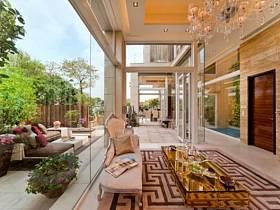 现代简约客厅外景装修效果展示