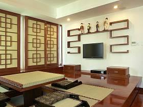 新中式卧室阳台榻榻米设计图