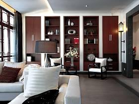 中式客厅收纳装修效果展示