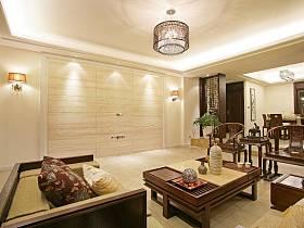 中式客廳多功能室裝修圖