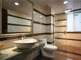 現代簡約衛生間干濕分離裝修圖