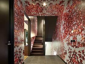 自然樓梯壁紙效果圖