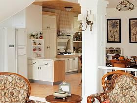田园美式客厅吧台单人沙发设计案例