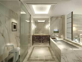 现代简约浴室淋浴房设计方案