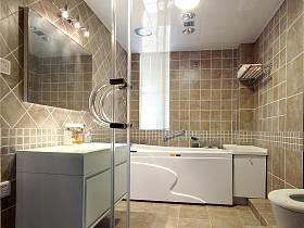 现代简约田园美式浴室装修效果展示