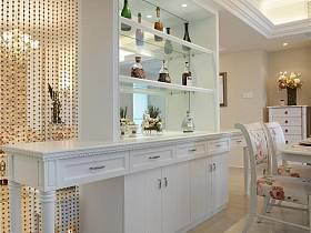 田園客廳酒柜設計方案