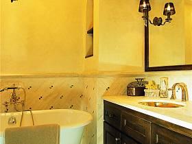 田园美式浴室淋浴房设计图
