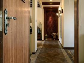 美式玄关走廊玄关柜设计图