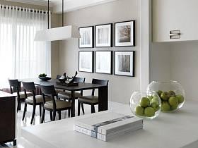 现代简约餐厅背景墙案例展示