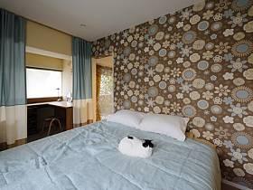 清新窗簾壁紙設計案例