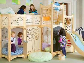 現代簡約兒童房雙層兒童床圖片
