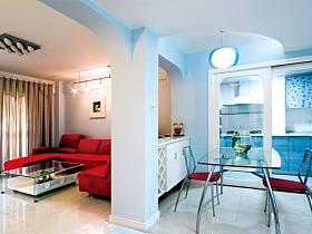 现代客厅餐厅三居设计案例展示