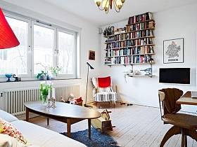 客廳書架辦公桌椅裝修案例