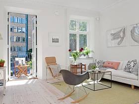 簡約客廳陽臺沙發茶幾椅子椅圖片