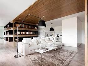 自然客厅卧室厨房书架椅装修图