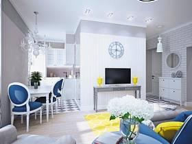 客廳餐廳廚房窗簾沙發設計圖