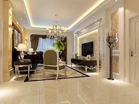 歐式精致歐式風格奢華客廳背景墻沙發電視背景墻設計方案