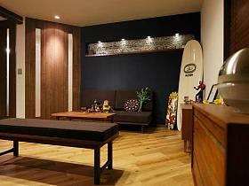 清新自然溫馨浪漫客廳沙發茶幾布藝沙發設計案例