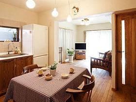 日式自然温馨浪漫植物桌子柜子装饰品设计案例
