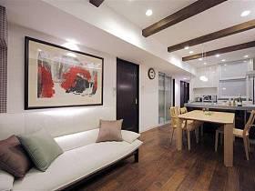 日式自然典雅沙发餐桌椅子木质餐桌椅装修效果展示