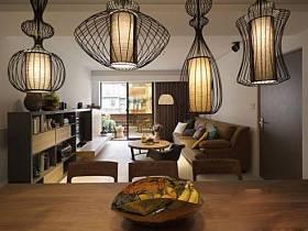 前衛餐廳餐廳燈裝修效果展示