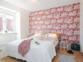 温馨浪漫卧室壁纸装修图