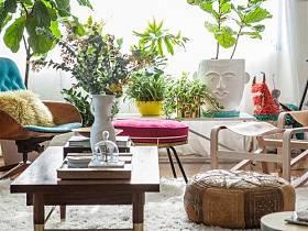 清新植物桌子腳凳設計方案