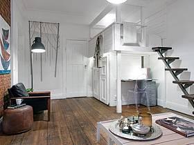 書房休閑區背景墻床架設計方案