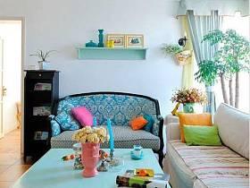 地中海古典沙发布艺沙发效果图