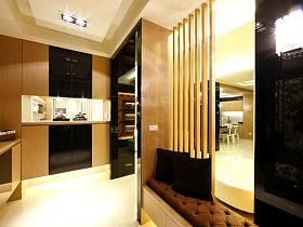 現代時尚奢華玄關玄關柜水晶燈裝修案例