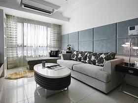 时尚奢华客厅窗帘沙发装修图