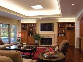 客厅电视柜台灯装修图