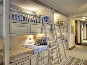 現代簡約美式兒童房設計圖