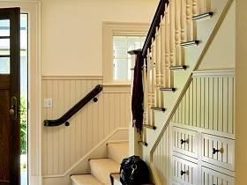 美式玄关楼梯玄关柜装修图