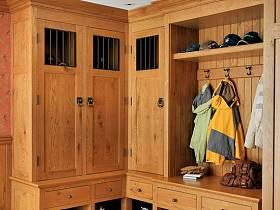 美式玄关衣帽间玄关柜设计案例展示