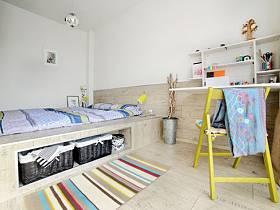 日式自然日式風格臥室床架設計圖