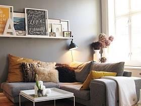北欧简约客厅沙发茶几小茶几装修图