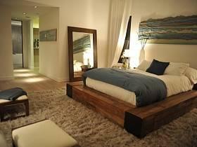 自然臥室木床設計方案